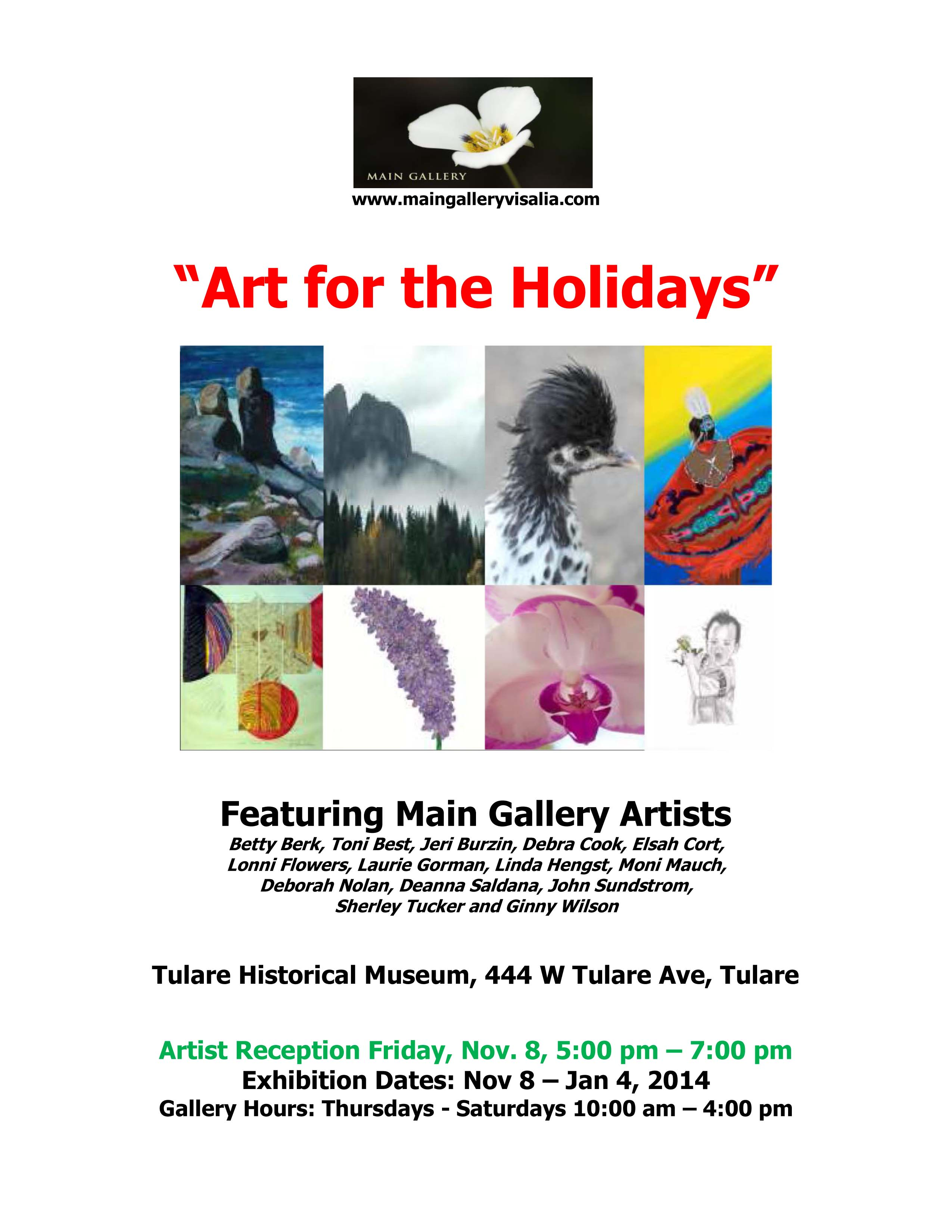 """Art for the Holidays"" at the Tulare Museum"